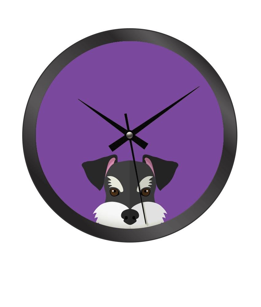 Reloj de pared schnauzer sibuts - Reloj de pared diseno ...