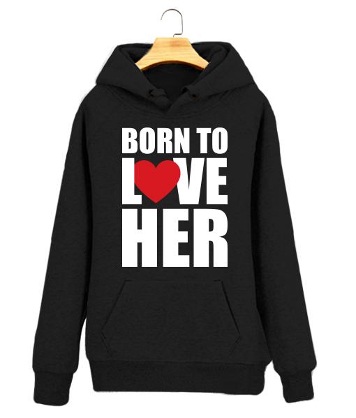 Sudadera para Pareja Personalizada Born to Love
