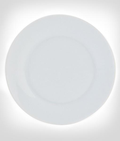 Plato blanco personalizado sibuts for Plato blanco