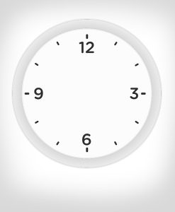 reloj pared blanco personalizado
