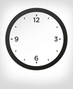 Reloj de Pared Negro Personalizado