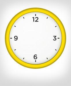 reloj pared amarillo personalizado