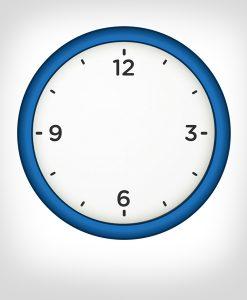 reloj pared azul personalizado
