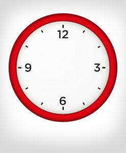 Reloj pared rojo personalizado