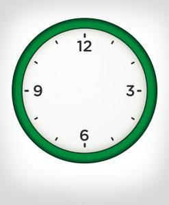reloj pared verde personalizado