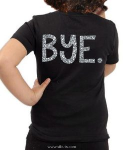 Playera negra niña Hi Bye