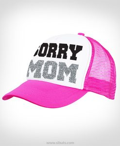 gorra rosa sorry mom