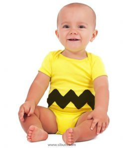 pañalera para bebé amarilla de charly brown