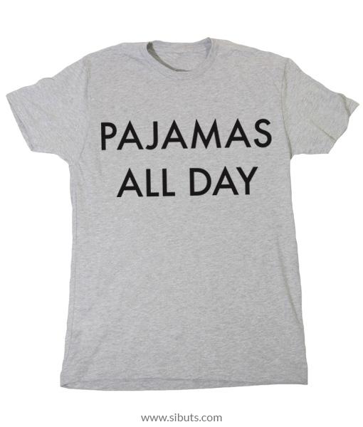 playera gris mujer pajamas all day