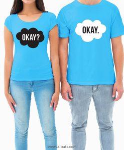 playera para pareja azul okay