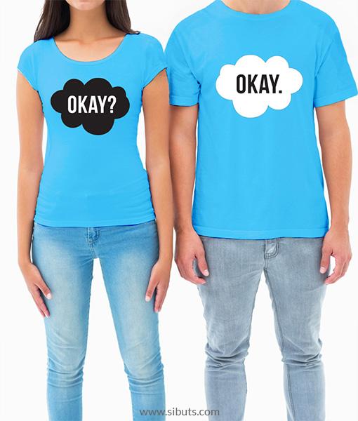 Playera Parejas Okay Okay - Sibuts Tienda Online b0f982b77604e