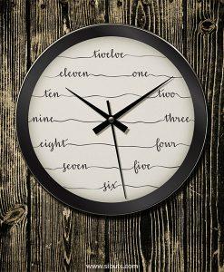 reloj pared números