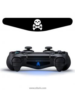 sticker barlights control ps4 calavera con huesos