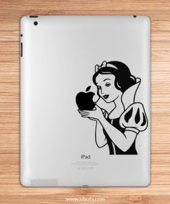 sticker para ipad blanca nieves manzana