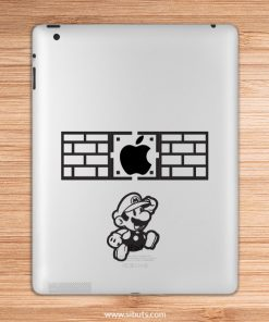 sticker para ipad ladrillo mario