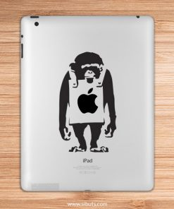 sticker para ipad monkey bansky