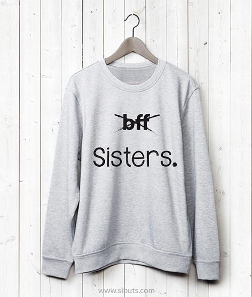 Sudadera gris amigas bff sisters