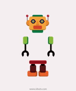 vinil decorativo apagador robot