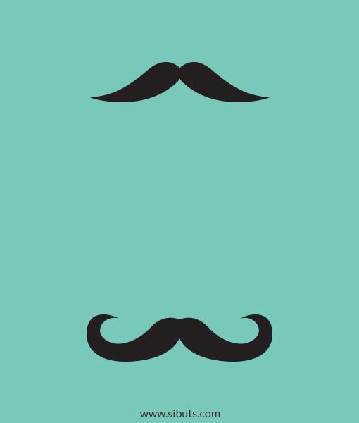 vinil decorativo para apagador moustache