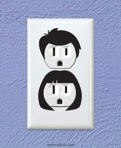 vinil decorativo para apagador siluetas hombre y mujer