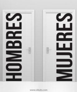 Vinil Decorativo puerta baño hombres y mujeres