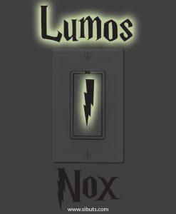 vinil decorativo apagador fluorescente lumos nox