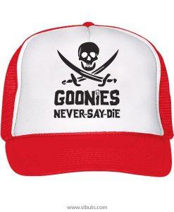 gorra roja tipo camionero goonies never say die