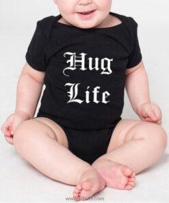 panalera para bebé negra hug life