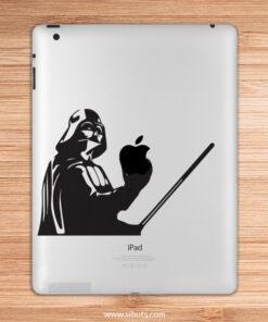 sticker para ipad Darth Vader agarrando manzana espada