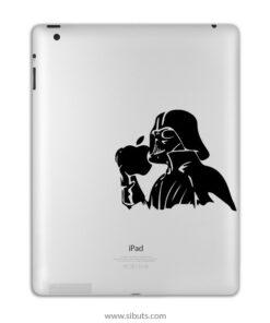 sticker para ipad Darth Vader agarrando manzana