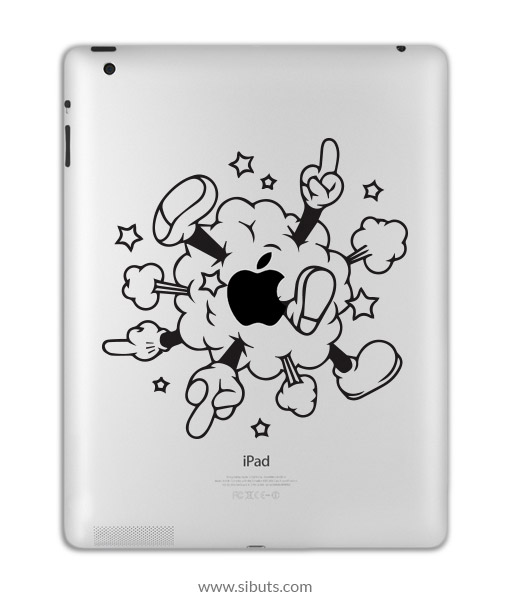 sticker para ipad mickey cloud