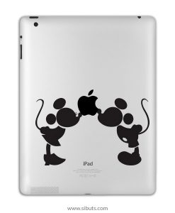 sticker para ipad mickey kiss