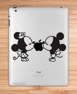 sticker para ipad mickey kiss retro