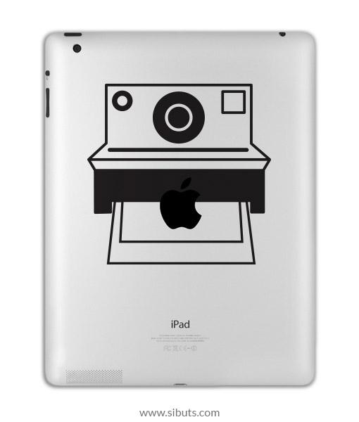 sticker para ipad polaroid