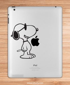 sticker para ipad snoopy lentes