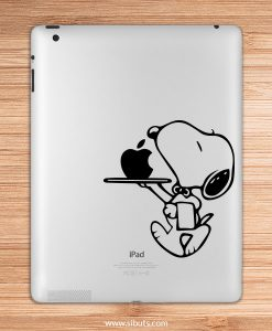sticker para ipad snoopy mesero