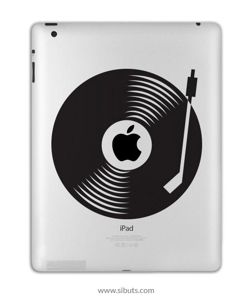 sticker para ipad disco vinilo