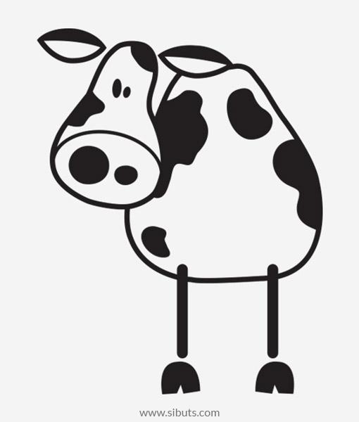 Vinil decorativo enchufe vaca