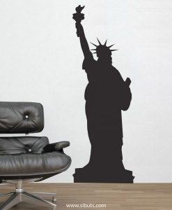 Vinilo decorativo estatua de la libertad nueva york
