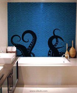 Vinilo decorativo para Bañera de Kraken