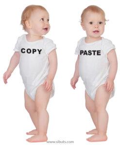 Pañalero blanco bebé gemelos copy paste