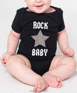 Pañalero negro bebé rock baby