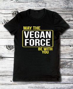 Playera hombre May the Vegan Force Be With You