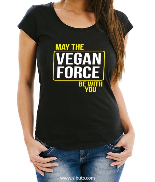 Playera mujer May the Vegan Force Be With You