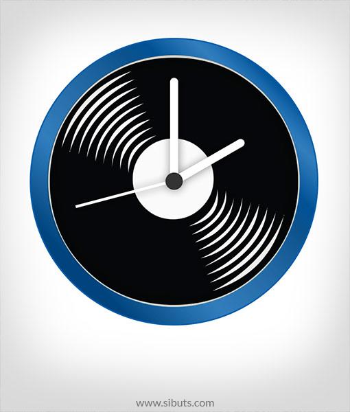 Reloj de pared disco de vinilo sibuts tienda online - Reloj vinilo pared ...