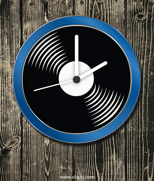 Reloj de Pared con diseño de Disco de Vinilo
