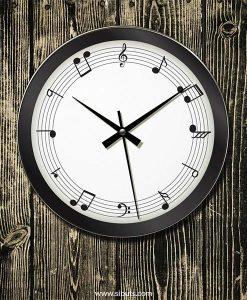 Reloj de Pared con diseño de Pentagrama Musical