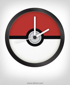 Reloj pared Pokemon - Pokebola