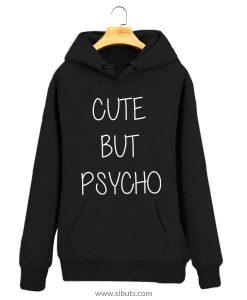 Sudadera negra para mujer cute but Psycho