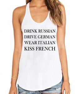 Tank Top para mujer kiss french